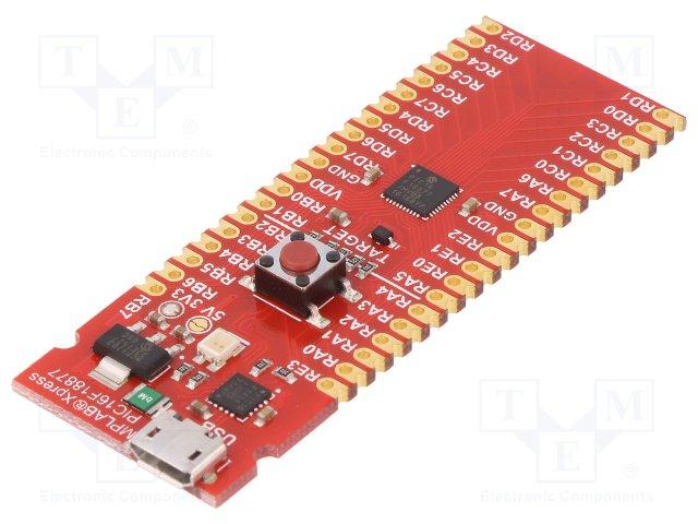 DM164142 mplabxpress PIC16F18877 Board