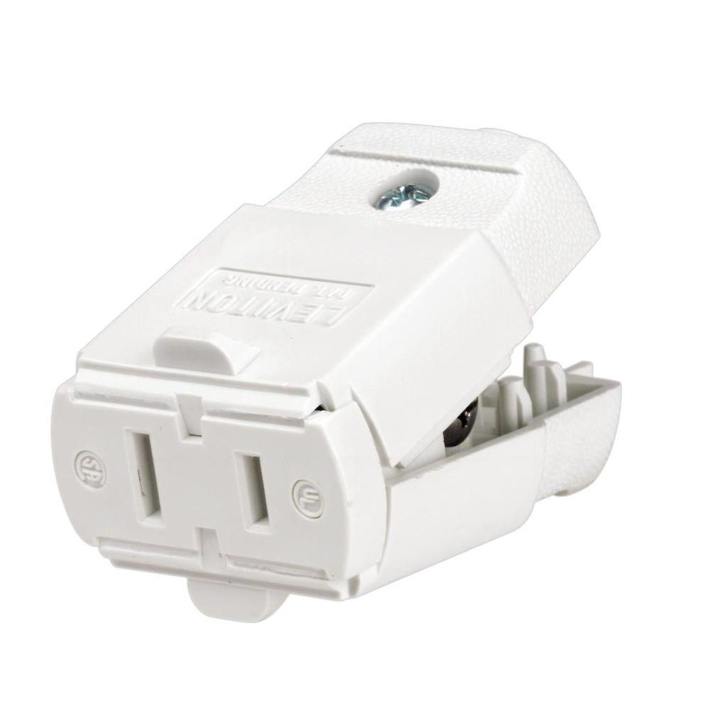 Leviton Residential Grade Cord Connector 125V 3-Wire 2-Pole 10 Pack