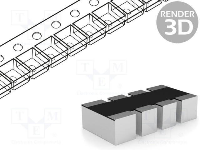 RES ARRAY 4 RES 39 OHM 1206 Pack of 5000 CAT16-390J4LF