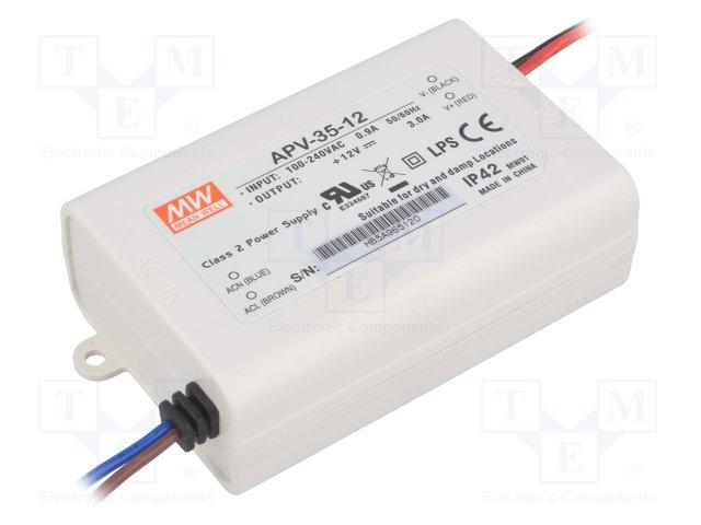Meanwell APV-35-12 Power Supply 35W 12V 3A