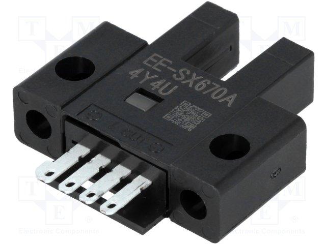 OMRON EE-SX670A NPN; Slot Sensing Mode 5 mm; Infrared