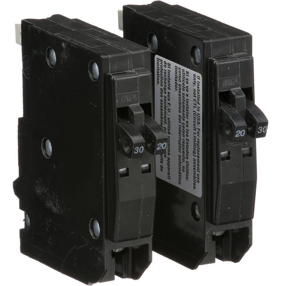 SQUARE D QO20303020 Qwik-Open 1P Tandem Plug In Circuit Breaker 30A 120//240VAC
