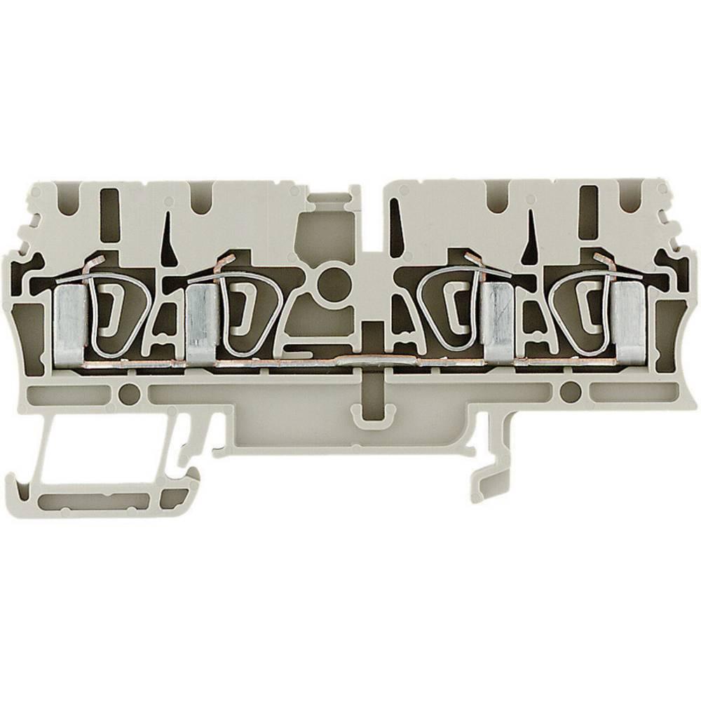 30-12AWG DIN RAIL 4POS 100 pieces WEIDMULLER 1608570000 TERMINAL BLOCK