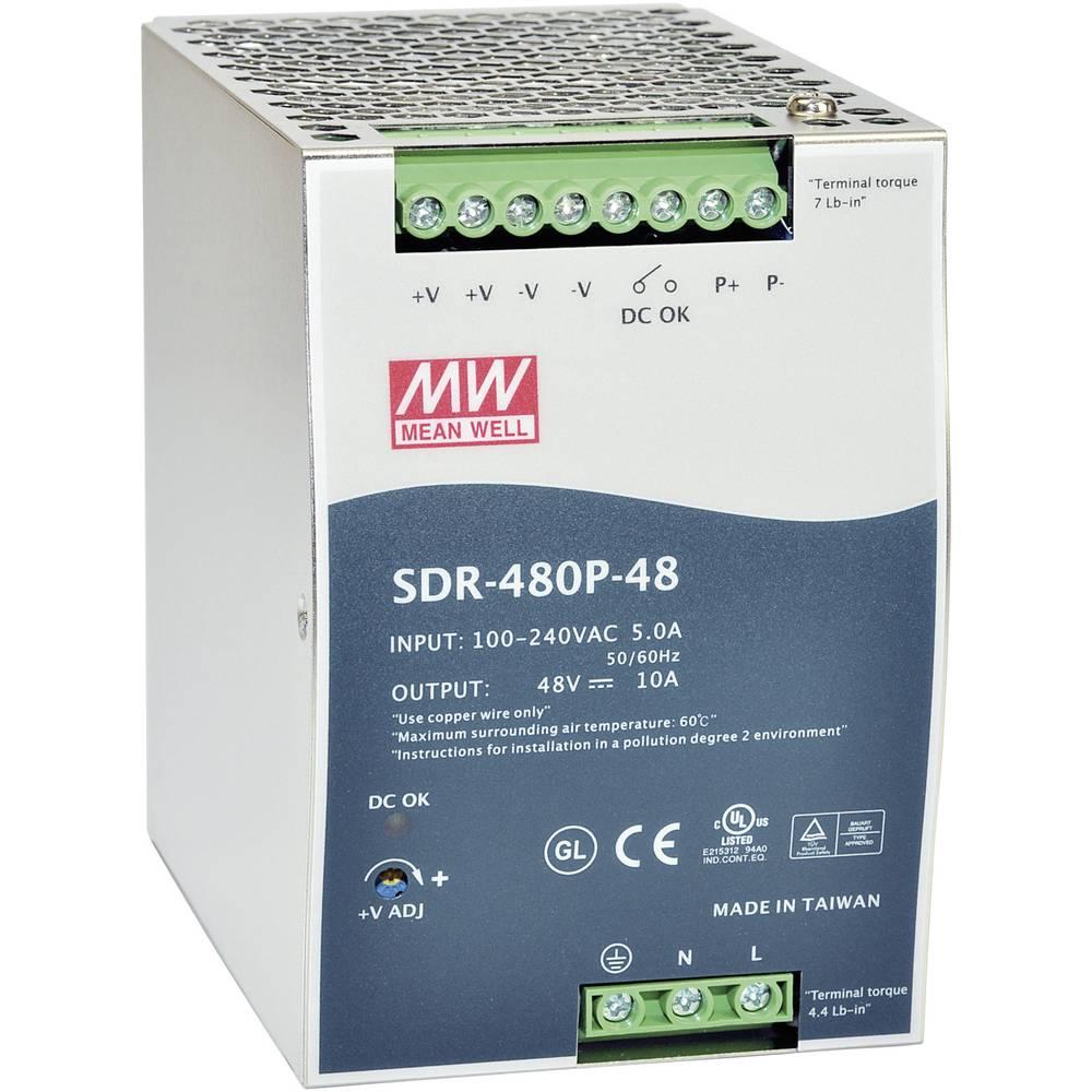 MW Mean Well SDR-480P-48 48V 10A DIN Rail Power Supplies