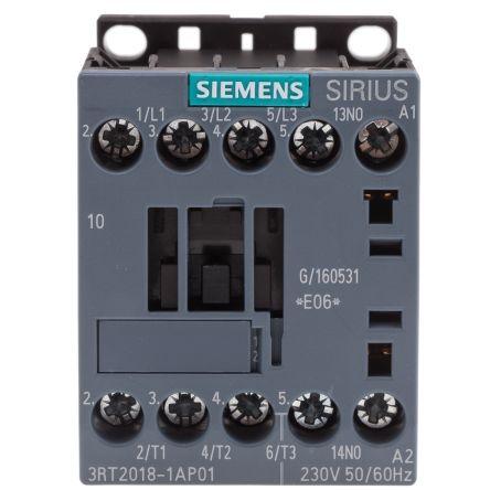 SZ S00 SCREW TERMINAL 50//60 HZ 7.5KW//400V AC-3 3-POLE 1NO AC 230V Siemens 3RT2018-1AP01 CONTACTOR