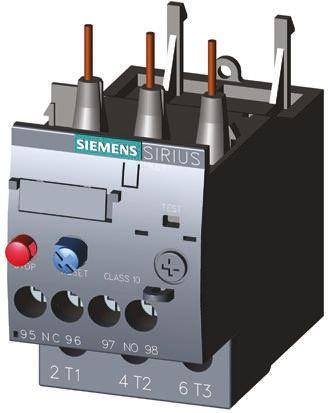 SIEMENS 3RU2126-1GB0 OVERLOAD RELAY 4.5-6.3 AMP