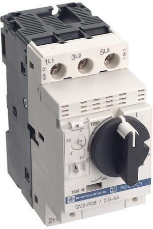 SCHNEIDER ELECTRIC GV2P03 Manual Motor Starter,Knob,0.25to0.4A,3P