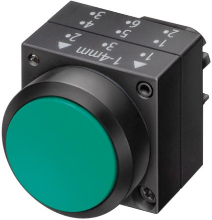 1x siemens 3sb3 001-0aa71 bouton poussoir pushbutton environ Illuminated NEUF