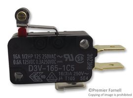 D3V-165-1C5 Microswitch with lever with roller SPDT 16A//250VAC ON-ON OMRON