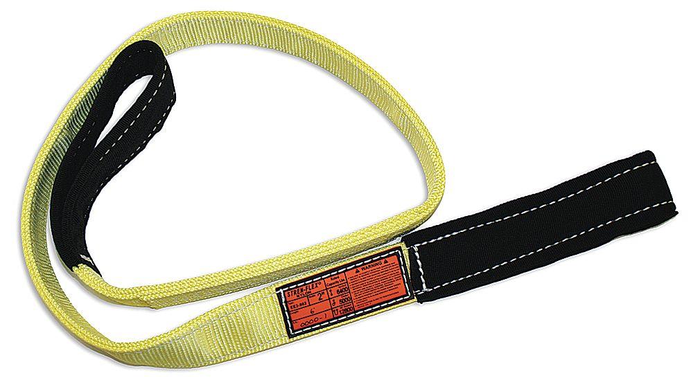 13 Length x 3 Width Yellow Stren-Flex EEF3-903-13 Type 3 Heavy Duty Nylon Flat Eye and Eye Web Sling 3 Ply 12,300 lbs Vertical Load Capacity