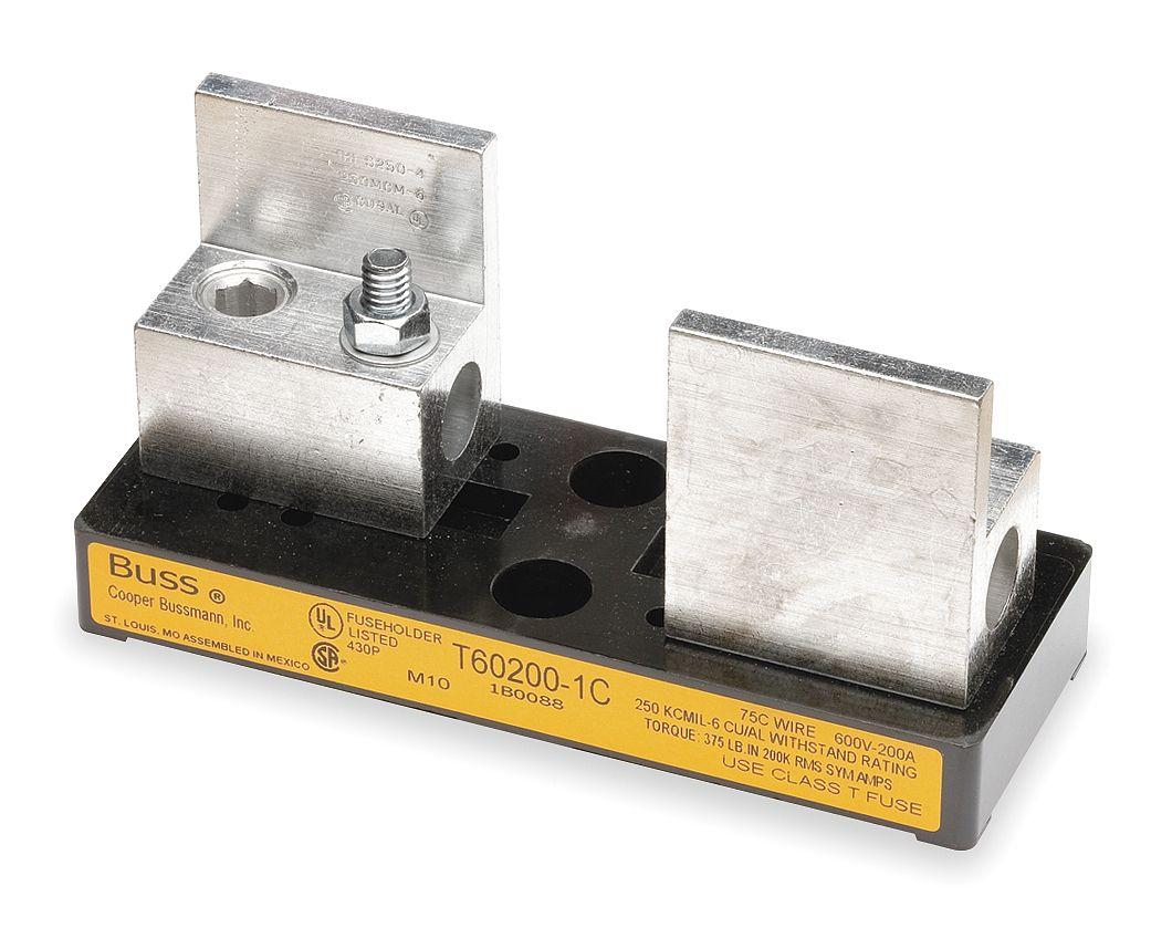 T60200 1c Cooper Bussmann T602001c Datasheet Micro Fuse Block With Box Lug