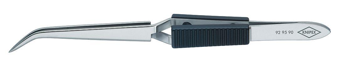 Knipex 92-95-90 Cross-Over Tweezers angled narrow tips