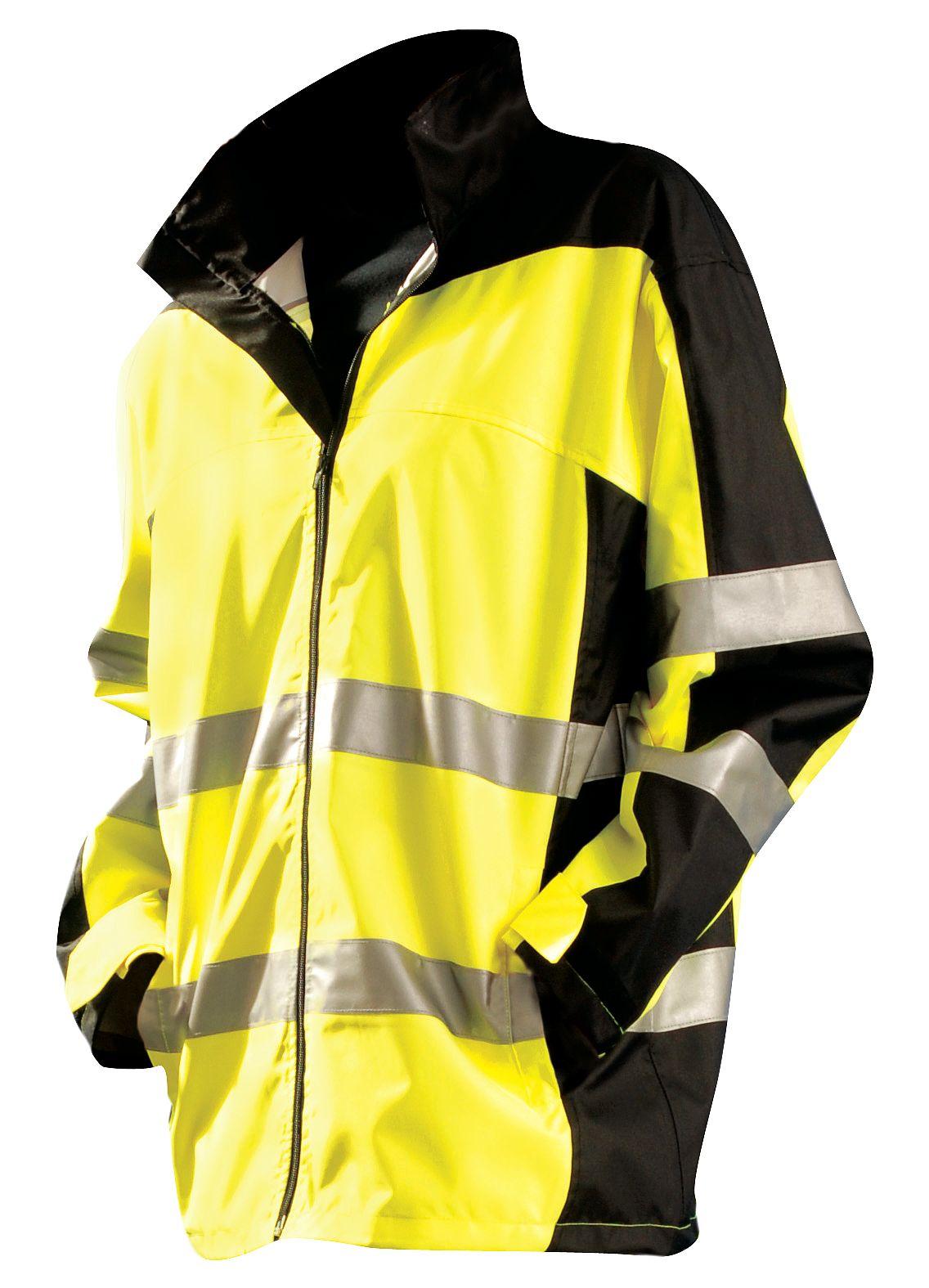 OCCUNOMIX SP-BRJ-YL Breathable Rain Jacket w//Hood,Yellow,L