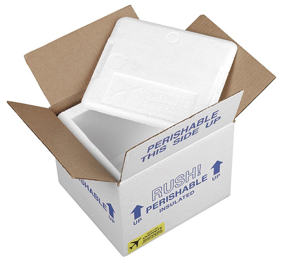 POLAR TECH ON40C Insulated Overnight Shipping Foam /& Carton 1-2 Day