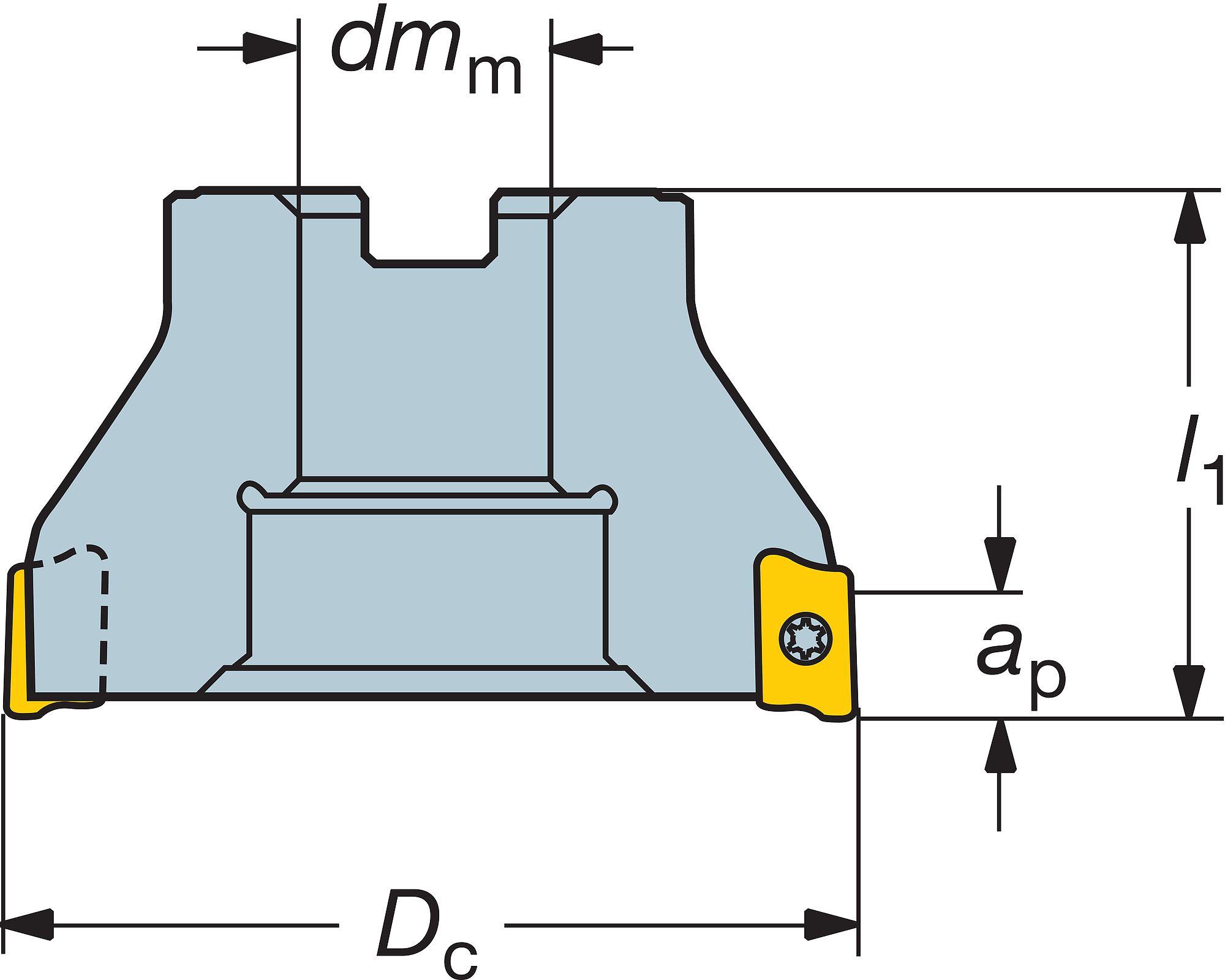 RA390-063R19-17M Sq Shoulder Mill Cutter