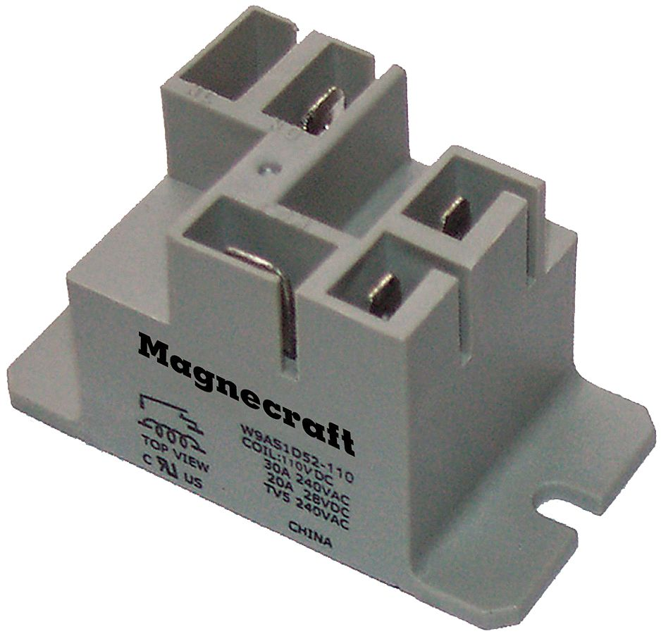 SCHNEIDER ELECTRIC Enclosed Power Relay,4 Pin,24VDC,SPST-NO 9AS1D52-24