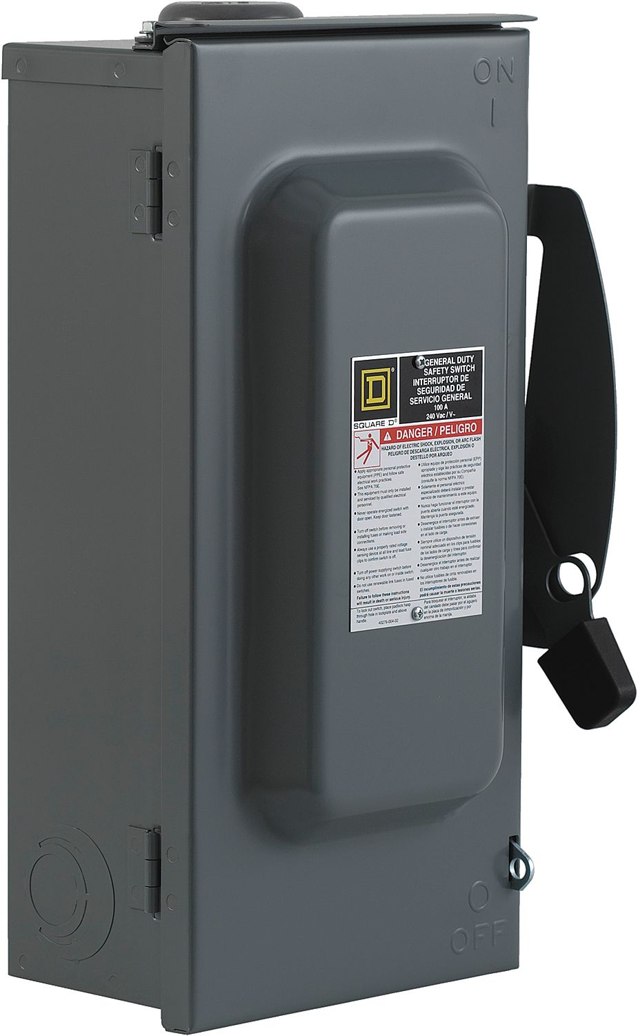 SQUARE D D323NRB 100 Amps AC 240VAC Single Throw Safety Switch 3PST