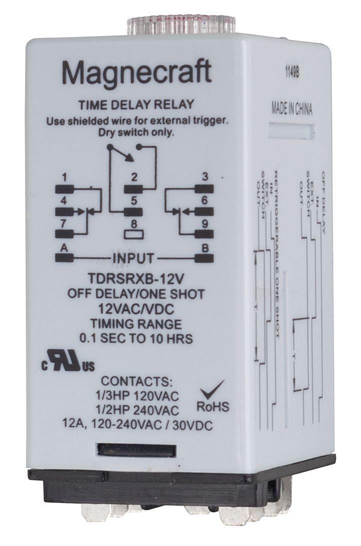 10H DPDT TDRSRXB-120V 120VAC//DC MAGNECRAFT TIME DELAY RELAY