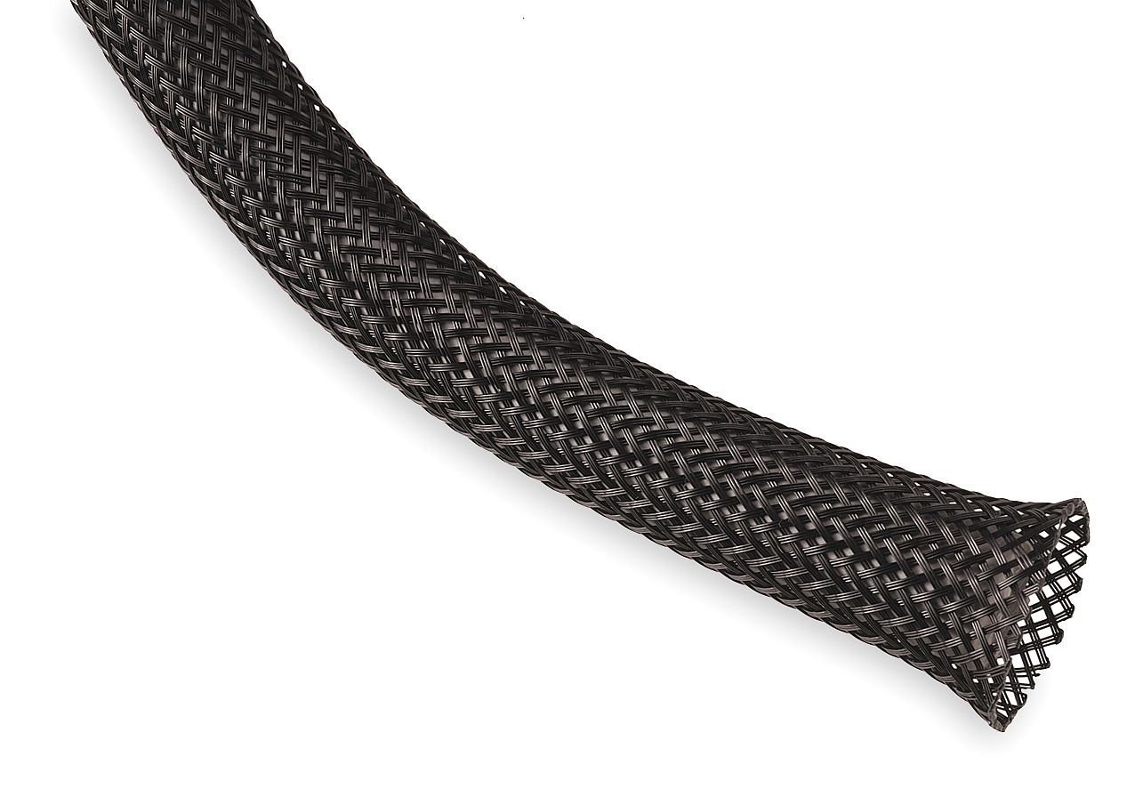 "Techflex 1//4/"" Expandable Sleeving 25 ft Carbon"