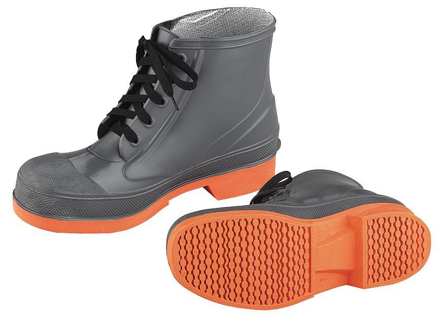 "ONGUARD 87981 09 00 Boots,Sz 9,6/"" H,Gray Stl,PR"