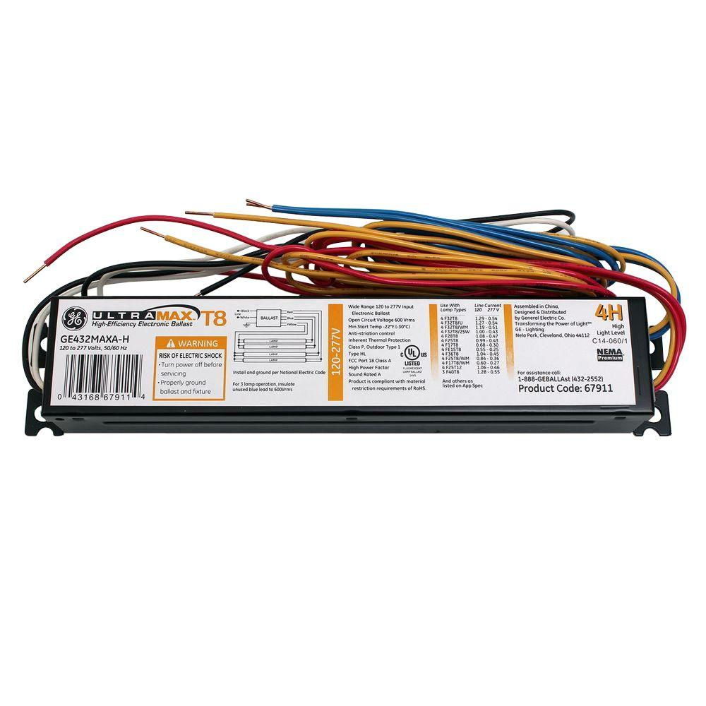 67911 General Electric 205417952 277 Volt Ballast Wiring