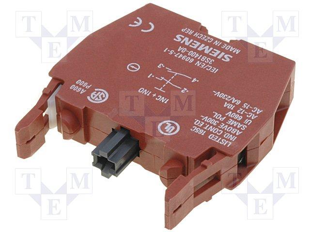 3SB1400-0A Siemens Contact Block 3SB1400-0A 1NO 1 NC