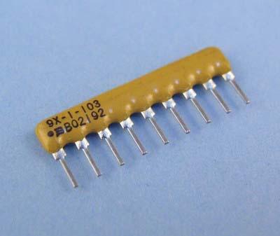 7 RES BUS SIP BOURNS 4608X-101-103LF RES N//W 2/% 10KOHM 50 pieces