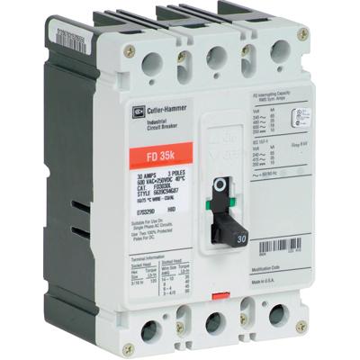 EATON CUTLER HAMMER FD Breaker 3 Pole 90 Amp FD3090