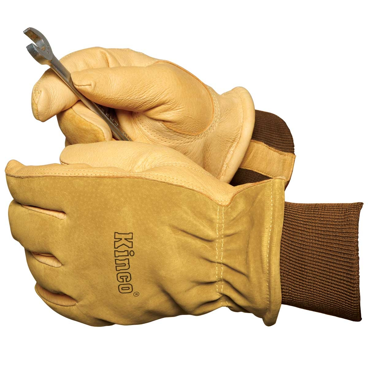 Leather work gloves with thinsulate lining - Leather Insulated Gloves