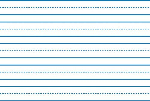 elementary paper with lines for writing