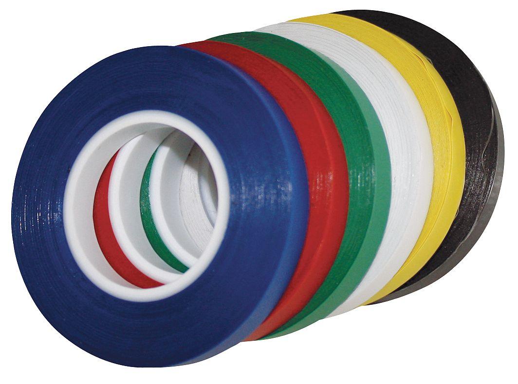 MAGNA VISUAL CT8-B Chart Tape,1//4 In W x 27 Ft L,Black