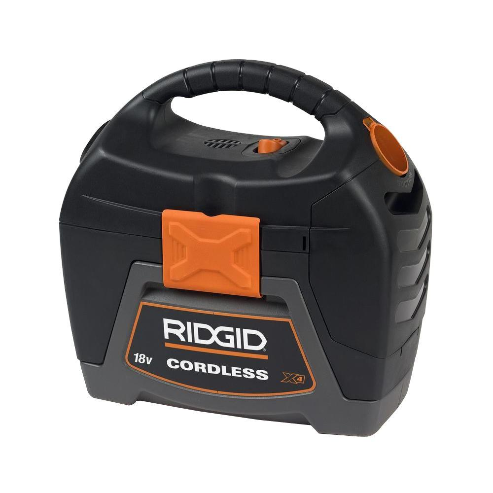RIDGID 18-Volt 3-Gal Cordless Wet//Dry Vacuum Cleaner Bare Tool Home Cleaning
