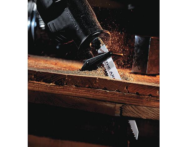 "Milwaukee 48-00-8021 6/"" 5 TPI The Ax™ SAWZALL® Blades 25 Pack"