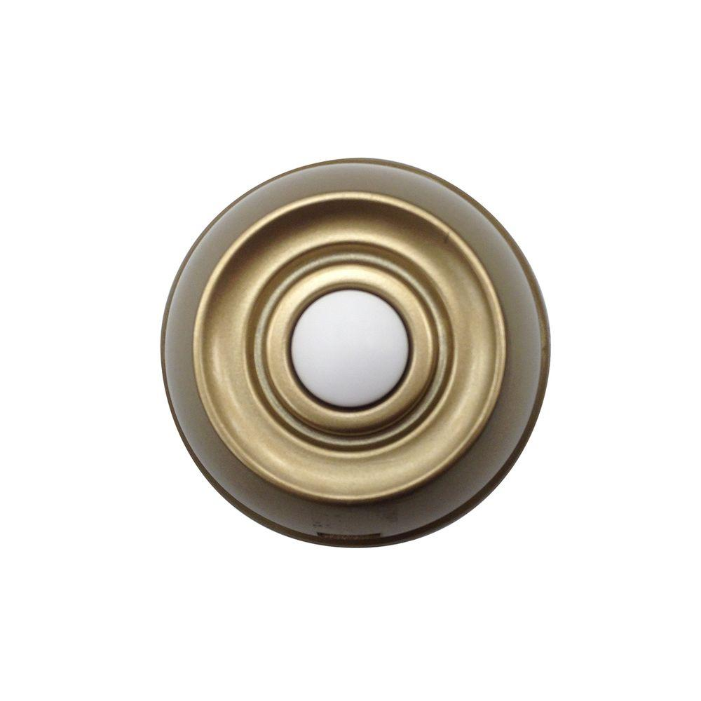 Hampton Bay HB-7707-02 Replacement Wireless Push Button Aged Brass