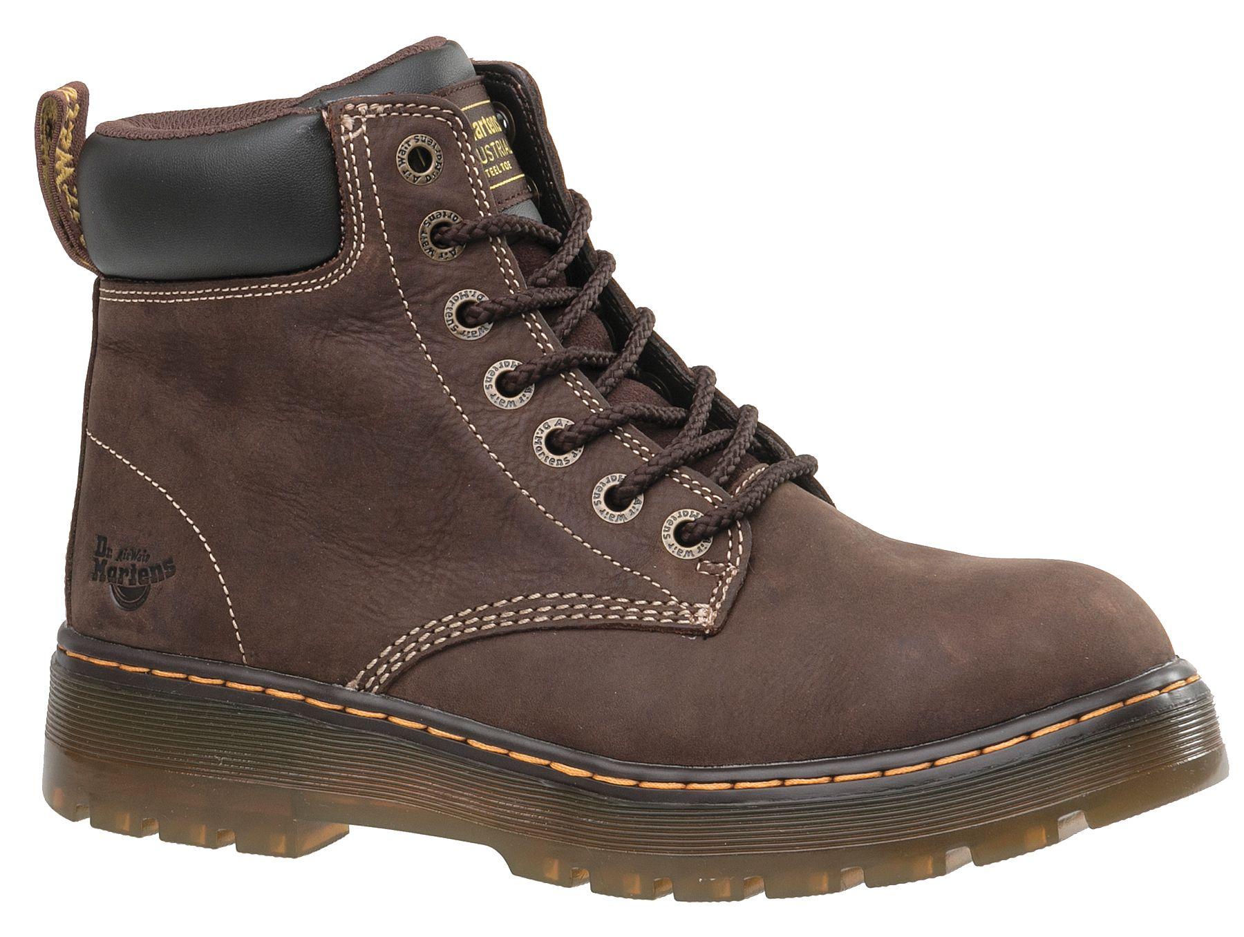 H,Mens,Brown,11,M,PR DR MARTENS R16258201 Work Boots,6 in