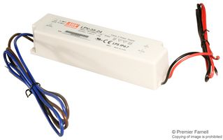 Input: 90~264VAC Wire Leads Chassis Mount Mean Well LPV-35-24 LED Power Supply 36W 24V 1.5A CV