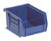 QUANTUM STORAGE SYSTEMS QUS235BL Hang/Stack Bin, 10-7/8L x 11W, Blue