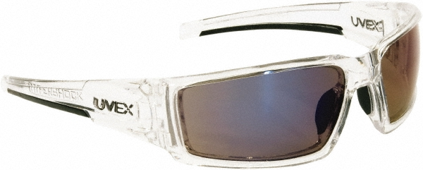 HONEYWELL UVEX S2975 Hypershock Safety Glasses Clear Frame And Blue