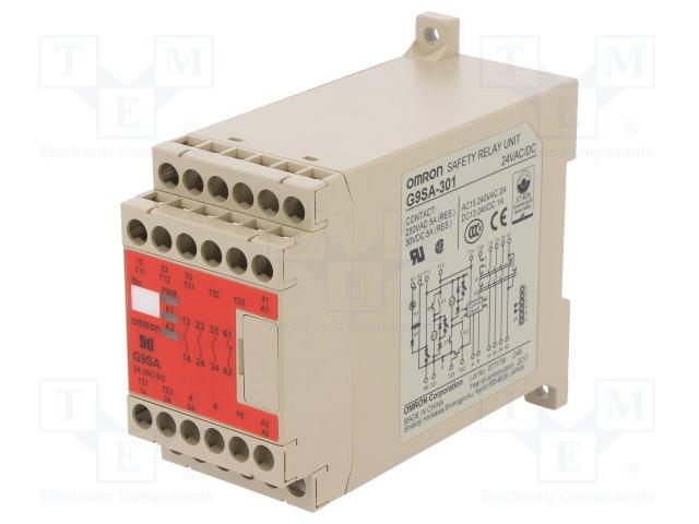 G9SA-301-AC//DC24 Omron STI Safety Relay Unit G9SA-301 AC//DC24 G9SA301