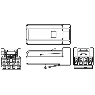 4POS 2MM PLUG HOUSING EDAC 566-004-000-710 CONNECTOR 1 piece